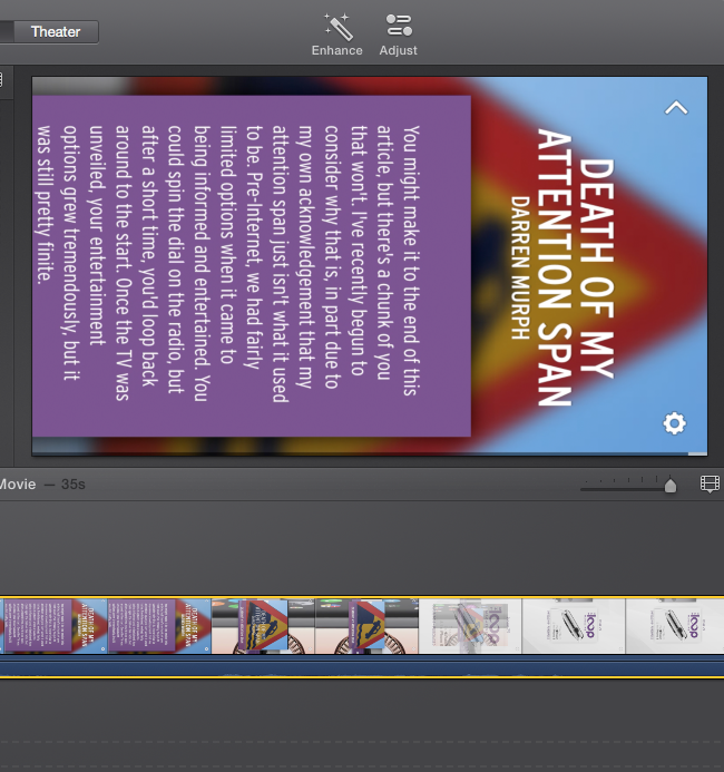 iMovie Preview